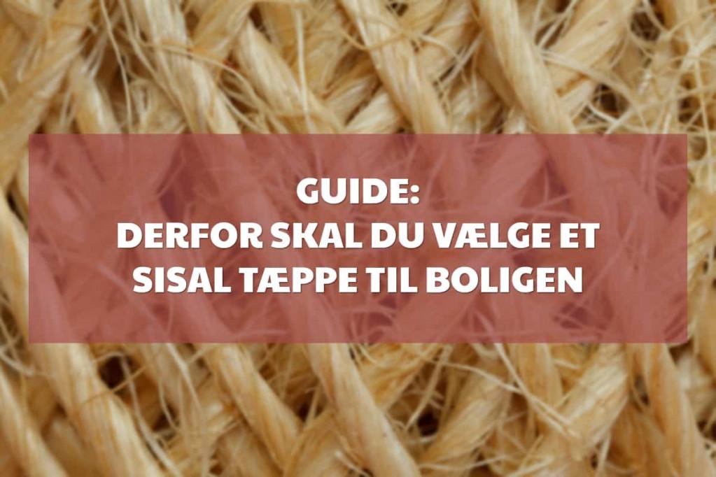 Guide: Derfor skal du vælge et sisal tæppe til boligen